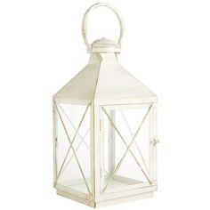 Bennett Lantern - Antique White Medium