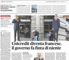 UNICREDIT DIVENTA FRANCESE, IL GOVERNO FA' FINTA DI NIENTE