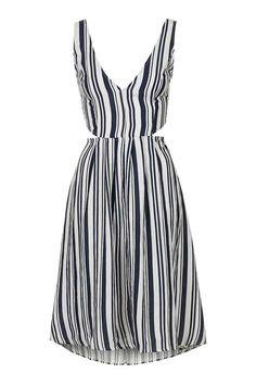**Striped Cut-Out Midi by Glamorous Petites