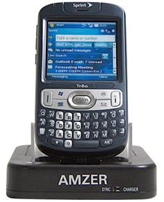 Amzer Desktop Cradle for Treo 800w - Black 2 in 1 Desk Top Charger. USB Cable and AC Charger Included. Charge and Sync your device from computer. AC adaptor included to charge through wall outlet. Charge Extra battery simultaniously.  #Amzer #Wireless