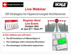 Upcoming webinar: DR Strategies For Hyperconverged Architectures