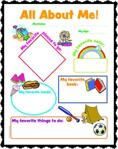 Fichas imprimibles para conocerse mejor / All about me worksheets for the first days of school First Day Of School, Pre School, School Days, Back To School, School Stuff, Sunday School Lessons, Sunday School Crafts, All About Me Printable, Religious Education