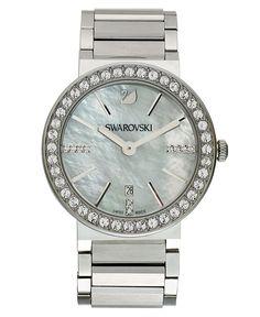 Swarovski Watch, Women's Swiss Citra Sphere Stainless Steel Bracelet 38mm - Fashion Jewelry - Jewelry & Watches - Macy's