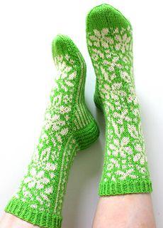 Ravelry: Metsäkukkia pattern by Niina Laitinen Crochet Socks, Knitting Socks, Hand Knitting, Knitted Hats, Knitting Patterns, Knit Crochet, Socks For Sale, Boot Toppers, Wool Socks