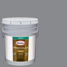 Glidden Premium 5-gal. #HDGCN39U Silversmith Grey Semi-Gloss Latex Exterior Paint
