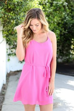 Wrap Me Up Dress - Pink