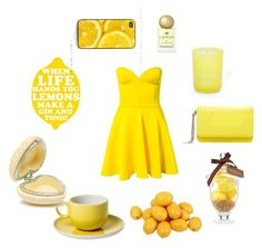 """""""lemon dress"""" by credentovideos ❤ liked on Polyvore featuring moda, Club L, Fringe, PTM Images, Gianna Rose Atelier, Forever New, Aimee Kestenberg y Mary Greenwell"""
