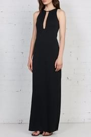 Achilles Maxi Dress - The Bailey44 Achilles Dress is a full length stretch poly dress with long keyhole opening fully lined with sheer mesh. Side slit on left thigh. Hidden back zipper.