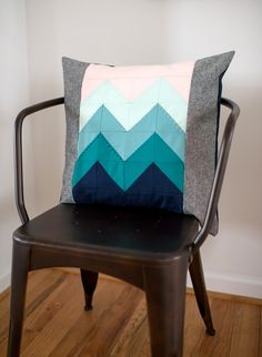 "Darling Dexter // Blue Ridge Block - I love the stitching added on only a few of the ""peaks"""