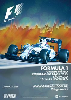 Official Poster for the GP Brasil of Formula 1 2015. art by Eric Peleias