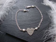 'Love You ' Bracelet  with Freshwater Pearls x  #agnesdrjewellery    https://www.facebook.com/Agnes.d.r.Jewellery