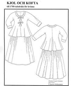 """""""Smultronflickan"""" - mönster från Skansens Klädkammare."""