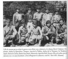 Soldats canareus de la columna Macià-Companys