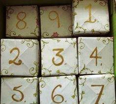 akventní kalendář z krabiček, papírová krabička, jak udělat papírovou krabičku