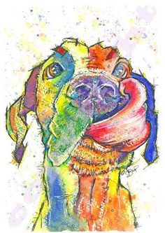 Great Dane Print of Original Watercolour Painting Watercolor Hound Dog Pup Puppy Animal Canine Artwork Gift Picture Art Weimaraner, Cute Dog Costumes, Dog Halloween Costumes, Big Dogs, I Love Dogs, Dane Puppies, Doggies, Funny Puppies, Great Dane Puppy