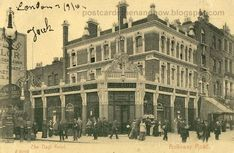 Nags Head at the junction of Holloway Road and Seven Sisters Road, Islington 1905 London Pubs, North London, Vintage London, Old London, Old Pictures, Old Photos, London Boroughs, London Fields, Finsbury Park