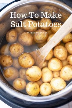 Instant Pot Salt Potatoes are also known as Syracuse Salt Potatoes. These salty and creamy young potatoes are a upstate New York regional recipe. Salt And Pepper Chips, Salt And Vinegar Potatoes, Salt And Pepper Chicken, Salted Caramel Frosting, Salted Caramel Cheesecake, Caramel Chocolate Chip Cookies, Salted Egg, Potato Recipes, Amigurumi