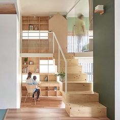 Taiwan apartment renovation by Hao Design includes a new floor with house-shaped doors Village House Design, Village Houses, Interior Architecture, Interior And Exterior, Apartment Renovation, Tiny Spaces, Interior Design Studio, Design Interiors, Beautiful Homes