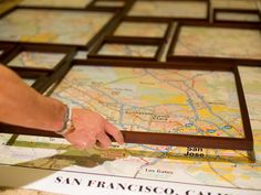 How to Create Fractured, Framed Map Art - on HGTV