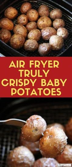 air fryer recipes Air Fryer Truly Crispy Baby Potatoes cooked without any precooking in the air fryer. If you love baby potatoes then you will love air fryer baby potatoes. Air Fryer Recipes Potatoes, Air Fryer Oven Recipes, Air Fryer Dinner Recipes, Air Fryer Recipes For Vegetables, Air Fryer Recipes Cauliflower, Power Air Fryer Recipes, Air Fryer Recipes Appetizers, Air Fryer Baked Potato, Recipes Dinner