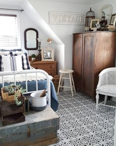 Adorable Vintage Beach Bedroom Designs Ideas - Home Design Best Home Design Home Design, Home Interior Design, Design Ideas, Cozy Bedroom, Bedroom Decor, Estilo Country, Up House, Kitchen Pictures, Country Decor