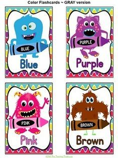 Monster Theme Color Posters by The Teaching Treehouse Preschool Decor, Daycare Crafts, Preschool Activities, Color Posters, Poster Colour, Monster Theme Classroom, Classroom Themes, Color Flashcards, Monster Crafts
