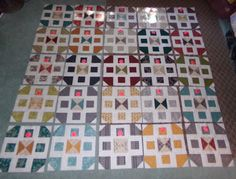 Country Village QAL blocks laid out I Am Happy, Dollar Stores, Frugal, Thrifting, Quilting, Layout, Living Room, Country, Sewing