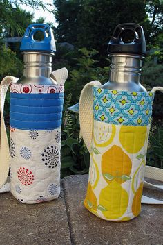 Quilted water bottle holders inspiration