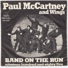 Paul McCartney And Wings Band On The Run Original Danish Issue 45 Picture Sleeve