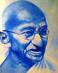 Gandhi which i painted for my sister