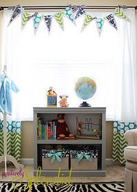 Curtains and pennant banner tutorial