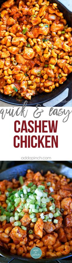 Cashew Chicken Recipe - This Cashew Chicken recipe makes a favorite quick and easy recipe perfect for busy weeknights! Ready and on the table faster than takeout! /