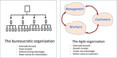 Agile organization vs bureaucracy