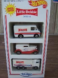 1994 HOT WHEELS MCKEE LITTLE DEBBIE 3 PACK SPECIAL ED Free Shipping