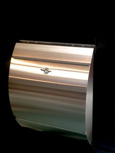 Contemporary Stainless Steel Curved Front Mailbox. http://www.mailboxmd.com