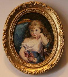 Miniature oil painting by Ellen Tomy