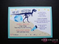 Night at The Museum party invites