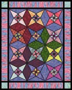 Quilt Patterns Free Quilt Patterns eQuiltPatterns.com: Stained Glass Star Free Quilt Pattern