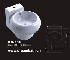 Product Name:Wallmounted Sink  Model No.: DB-260  Dimension: 540X435X325mm  (1 inch = 25.4 mm)  Volume: 0.094CBM  Gross Weight: 21KGS  (1 KG ≈ 2.2 LBS) Sink shape: Round