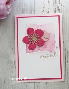 Bunch of Blossoms, Botanical Builder, Stampin up, watercolor