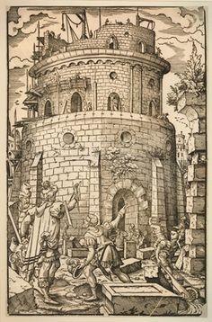 Anonyme hollandais Construction de la tour de Babel - 1500-50