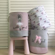 Pink Laundry Basket Organizer for Dirty Clothes Cotton Ballet Girl Bow Print Toys Organizer Home Storage & Organization Toy Storage Bins, Toy Bins, Storage Baskets, Bag Storage, Clothes Storage, Storage Ideas, Laundry Basket Organization, Laundry Hamper, Toy Organization