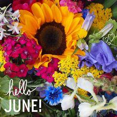Hello June!  Sunflower bouquet