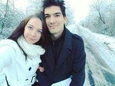 Me and my love 💙❄ #couple #love #winter #snow #happiness #boyfriend #girlfriend