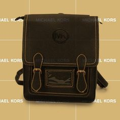 I LOVE this. I just bought Michael Kors Logo Signature Medium Black Backpacks like that not long ago.