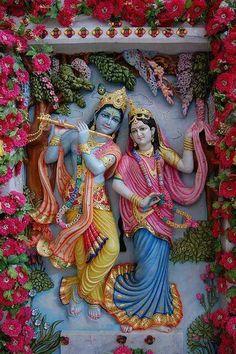 RadheKrishna Good Morning Krishna, Good Morning Coffee, Mural Wall Art, Lord Krishna, Morning Images, 4th Of July Wreath, Painting, Dil Se, Sally