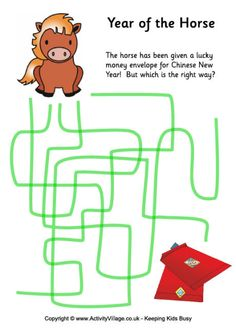 Year of the Horse - path puzzle