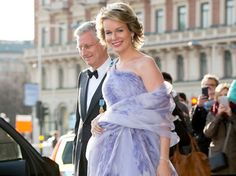 Queen Mathilde attend the banquet held for the 70th birthday of the King Carl Gustaf at Royal Palace. www.newmyroyals.com