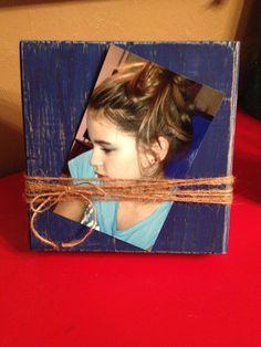 Distressed Wood Block Photo Frame by DefinitelyDenise - $12