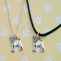 "-""Pug Necklace"" - BD Luxe Dogs & Supplies - 1"